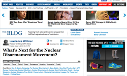 Lawrence Wittner's take on the future of the nuclear disarmament movement